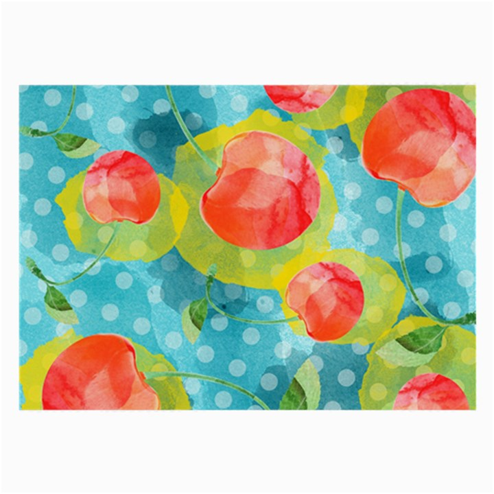 Red Cherries Large Glasses Cloth (2-Side)