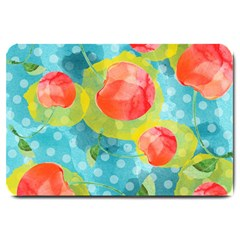Red Cherries Large Doormat  by DanaeStudio