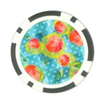 Red Cherries Poker Chip Card Guards Front