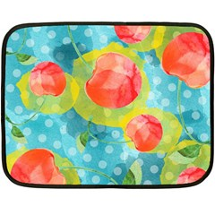 Red Cherries Fleece Blanket (mini)