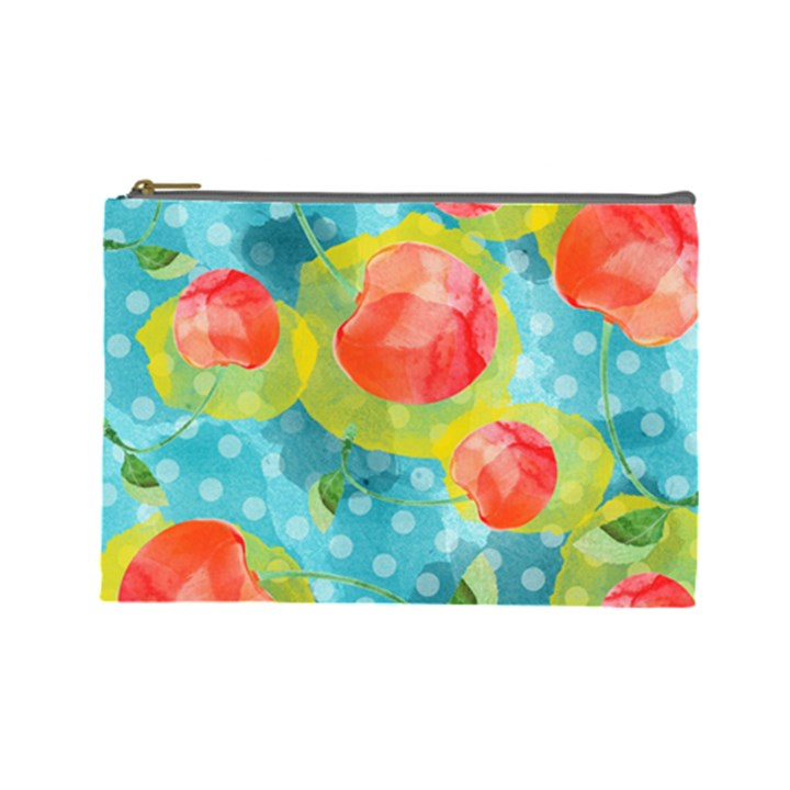 Red Cherries Cosmetic Bag (Large)