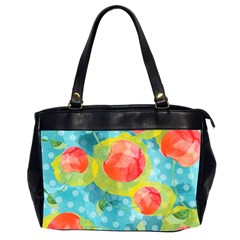 Red Cherries Office Handbags (2 Sides)  by DanaeStudio