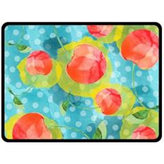 Red Cherries Fleece Blanket (large)