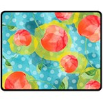 Red Cherries Fleece Blanket (Medium)  60 x50 Blanket Front