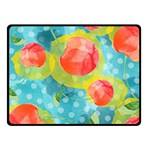 Red Cherries Fleece Blanket (Small) 50 x40 Blanket Front