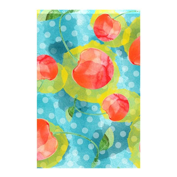 Red Cherries Shower Curtain 48  x 72  (Small)