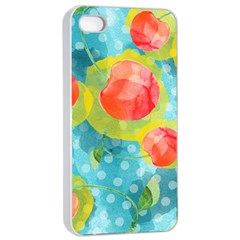 Red Cherries Apple Iphone 4/4s Seamless Case (white)