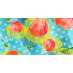 Red Cherries Happy Birthday 3D Greeting Card (8x4) Back