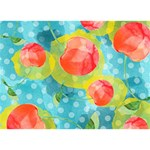 Red Cherries Circle 3D Greeting Card (7x5) Back