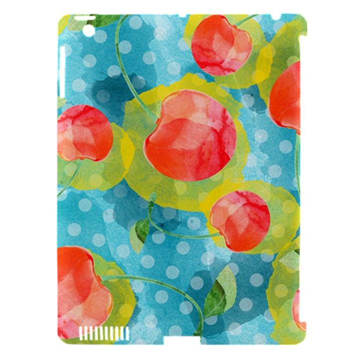 Red Cherries Apple iPad 3/4 Hardshell Case (Compatible with Smart Cover)