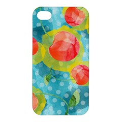 Red Cherries Apple Iphone 4/4s Premium Hardshell Case by DanaeStudio