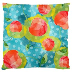 Red Cherries Large Cushion Case (one Side)