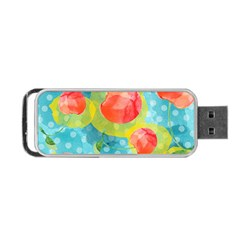 Red Cherries Portable Usb Flash (one Side)