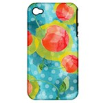 Red Cherries Apple iPhone 4/4S Hardshell Case (PC+Silicone)