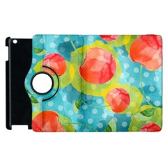 Red Cherries Apple Ipad 3/4 Flip 360 Case