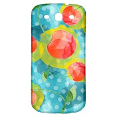 Red Cherries Samsung Galaxy S3 S Iii Classic Hardshell Back Case by DanaeStudio