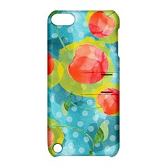 Red Cherries Apple Ipod Touch 5 Hardshell Case With Stand by DanaeStudio