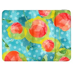 Red Cherries Samsung Galaxy Tab 7  P1000 Flip Case by DanaeStudio