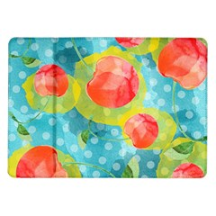 Red Cherries Samsung Galaxy Tab 10 1  P7500 Flip Case by DanaeStudio