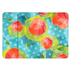 Red Cherries Samsung Galaxy Tab 8 9  P7300 Flip Case