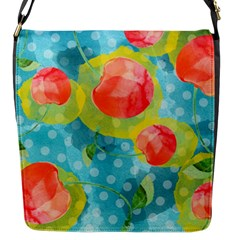 Red Cherries Flap Messenger Bag (s) by DanaeStudio