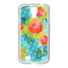 Red Cherries Samsung Galaxy S4 I9500/ I9505 Case (white) by DanaeStudio