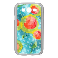 Red Cherries Samsung Galaxy Grand Duos I9082 Case (white) by DanaeStudio