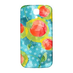 Red Cherries Samsung Galaxy S4 I9500/i9505  Hardshell Back Case by DanaeStudio