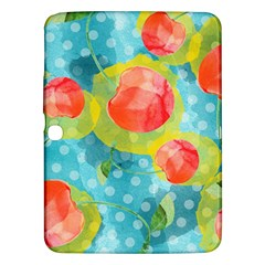 Red Cherries Samsung Galaxy Tab 3 (10 1 ) P5200 Hardshell Case  by DanaeStudio