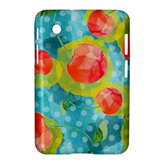 Red Cherries Samsung Galaxy Tab 2 (7 ) P3100 Hardshell Case  by DanaeStudio