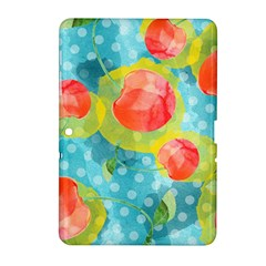 Red Cherries Samsung Galaxy Tab 2 (10 1 ) P5100 Hardshell Case  by DanaeStudio