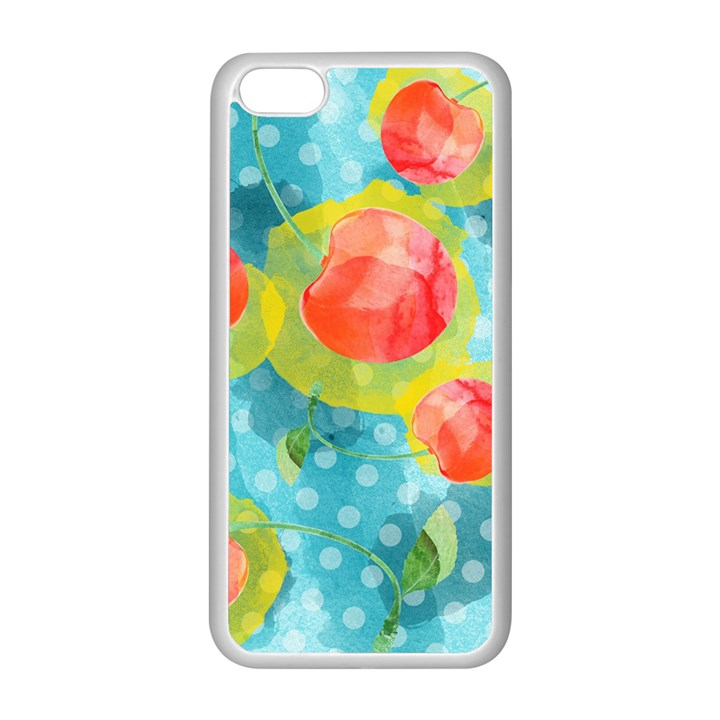 Red Cherries Apple iPhone 5C Seamless Case (White)