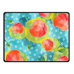 Red Cherries Double Sided Fleece Blanket (Small)