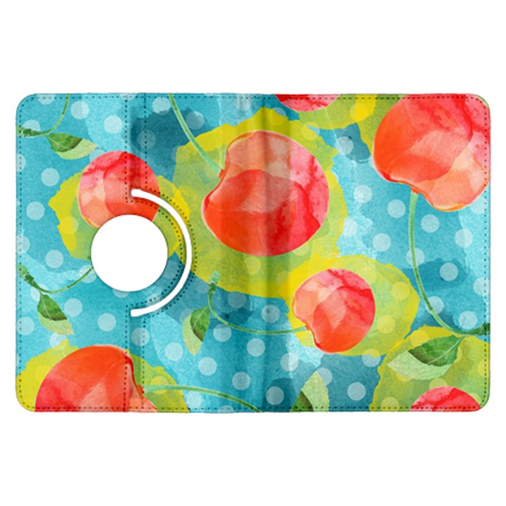 Red Cherries Kindle Fire HDX Flip 360 Case