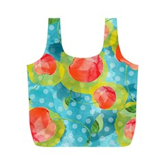 Red Cherries Full Print Recycle Bags (m)  by DanaeStudio