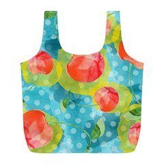 Red Cherries Full Print Recycle Bags (l)