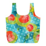 Red Cherries Full Print Recycle Bags (L)  Back