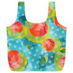 Red Cherries Full Print Recycle Bags (l)