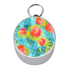 Red Cherries Mini Silver Compasses