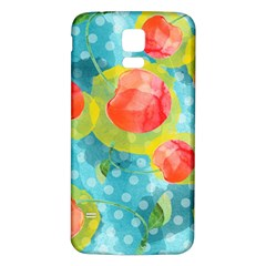 Red Cherries Samsung Galaxy S5 Back Case (white) by DanaeStudio