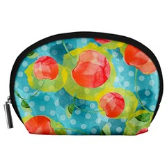 Red Cherries Accessory Pouches (large)  by DanaeStudio