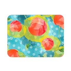 Red Cherries Double Sided Flano Blanket (mini)  by DanaeStudio