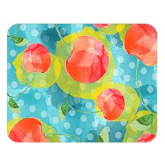 Red Cherries Double Sided Flano Blanket (large)  by DanaeStudio