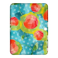 Red Cherries Samsung Galaxy Tab 4 (10 1 ) Hardshell Case  by DanaeStudio