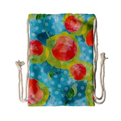 Red Cherries Drawstring Bag (small)