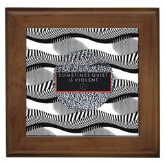 Sometimes Quiet Is Violent Twenty One Pilots The Meaning Of Blurryface Album Framed Tiles by Onesevenart
