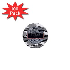 Sometimes Quiet Is Violent Twenty One Pilots The Meaning Of Blurryface Album 1  Mini Buttons (100 Pack)  by Onesevenart
