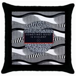 Sometimes Quiet Is Violent Twenty One Pilots The Meaning Of Blurryface Album Throw Pillow Case (Black)