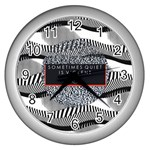 Sometimes Quiet Is Violent Twenty One Pilots The Meaning Of Blurryface Album Wall Clocks (Silver)