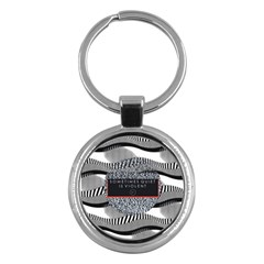 Sometimes Quiet Is Violent Twenty One Pilots The Meaning Of Blurryface Album Key Chains (round)  by Onesevenart